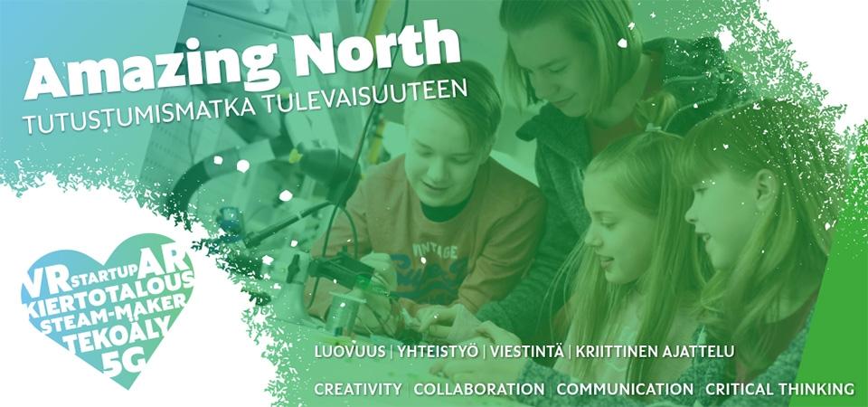 Tulevaisuuden työ suuren kiinnostuksen kohteena oppilaiden Amazing North -tapahtumassa