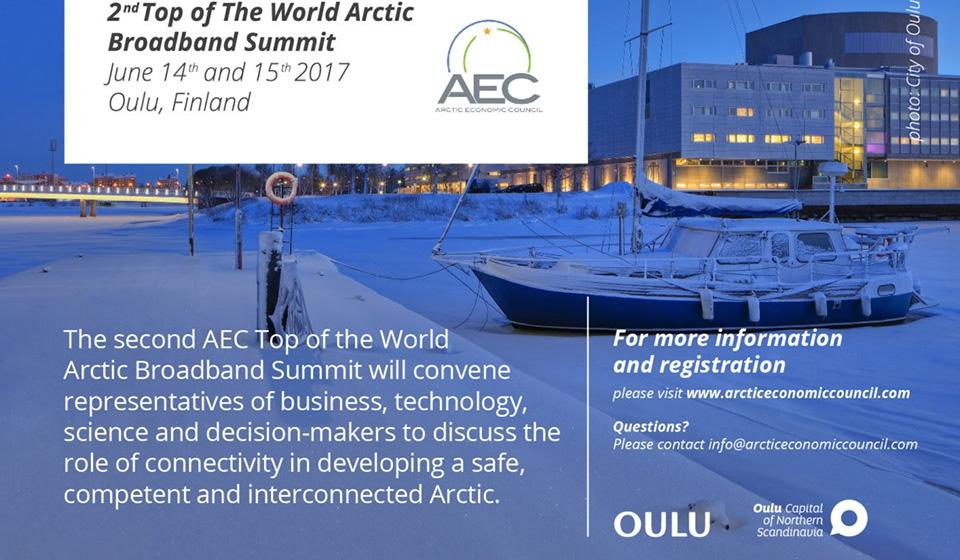 Arktiset yhteydet esillä huippukokouksessa, yritysnäkyvyyttä tarjolla