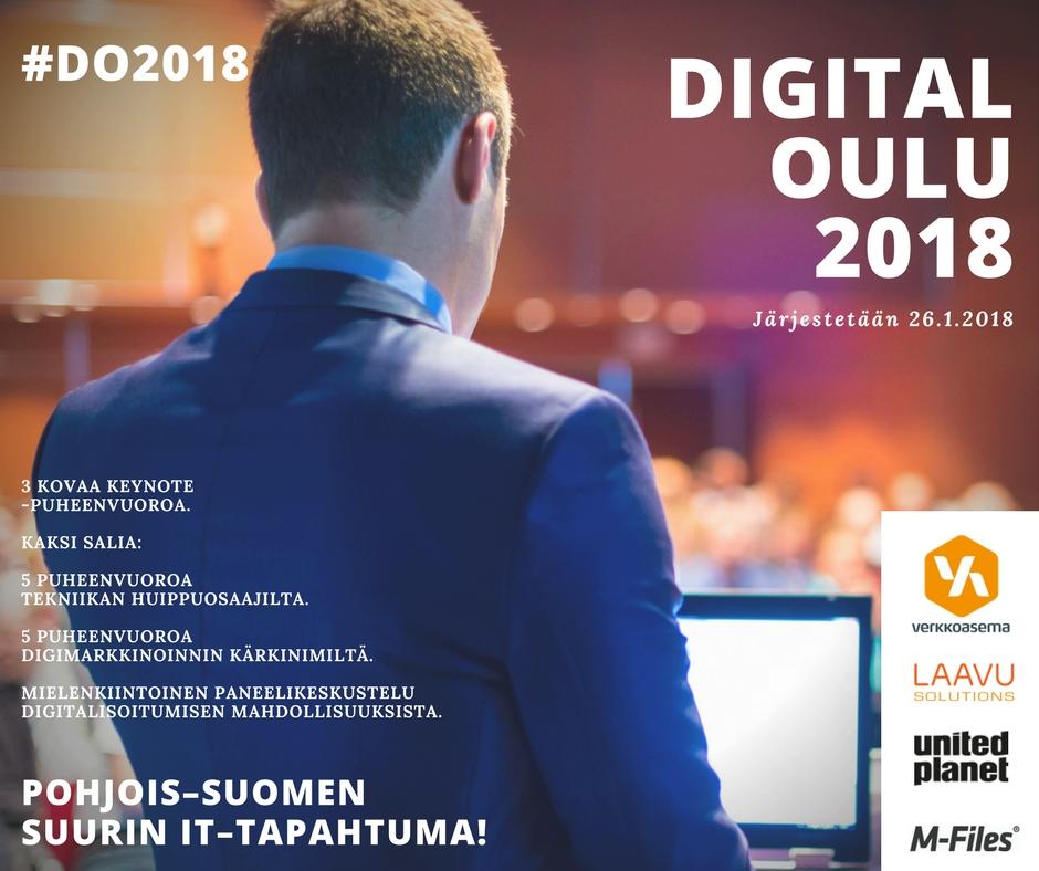 Digital Oulu 2018 tulee!
