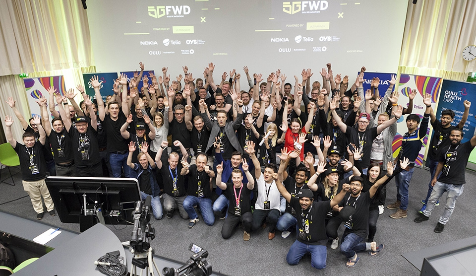 Oulu 5GFWD Hackathon Grand Prix prize to a team from India