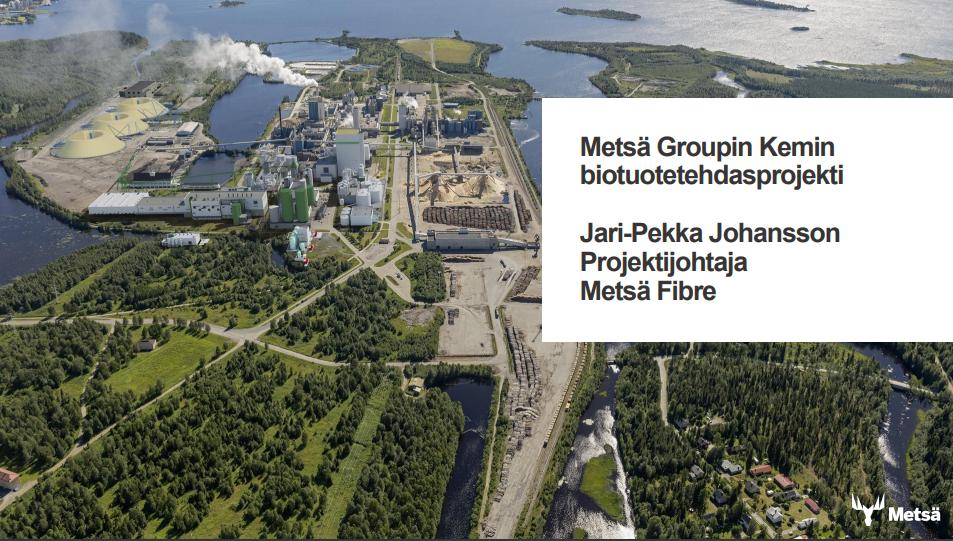 Kemin biotuotetehdasprojektiin alihankkijaksi