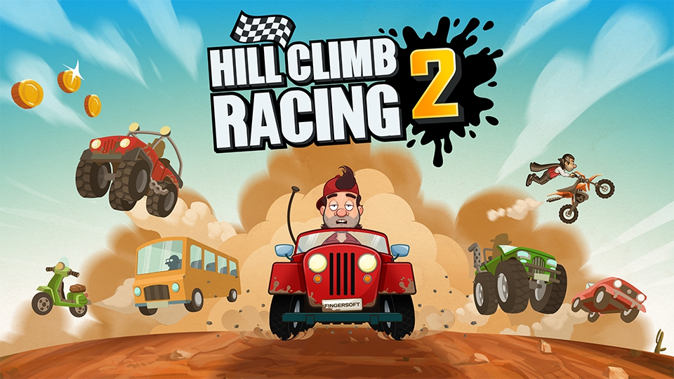 Fingersoftin Hill Climb Racing 2 -rallipeliä ladattu kahdessa kuukaudessa jo lähes 43 miljoonaa kertaa