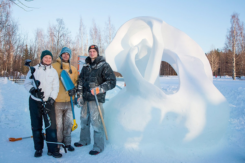Nallikarissa kilpaillaan jälleen lumenveiston mestaruudesta