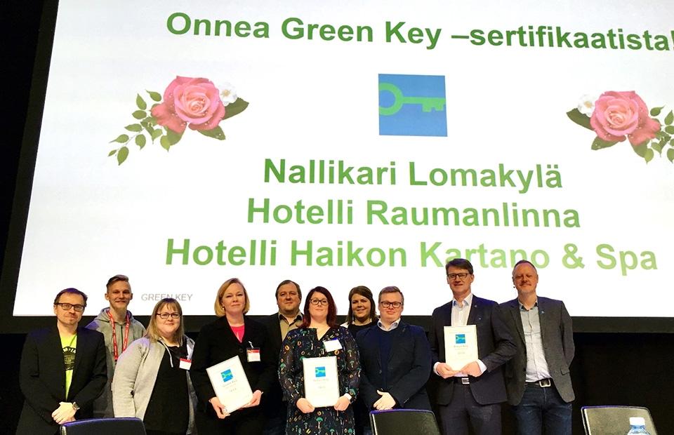 Nallikarin lomakylälle Green Key -sertifikaatti