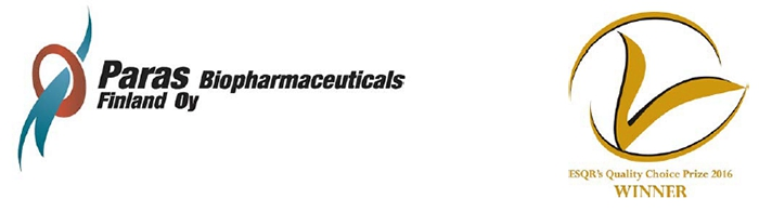 Paras Biopharmaceuticals receives Quality Choice award from European Society for Quality Research, Switzerland
