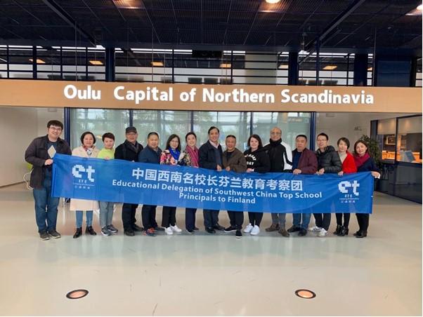 Kiinalaisen leirikoulujärjestäjän rehtorit vierailivat Oulussa