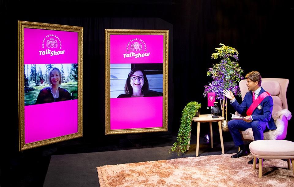 Oulun suurlähettilään talk show edennyt jo seitsemänteen jaksoon – vieraina vaikuttajia, yrittäjiä, opiskelijoita ja kulttuurialan tekijöitä