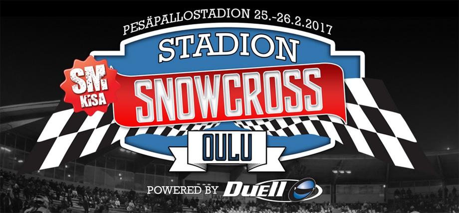 Stadion snowcrossin SM-kilpailu Oulussa kolmena seuraavana talvena 2017-2019
