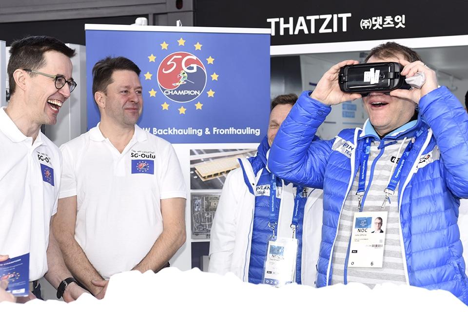 Pääministeri testasi Etelä-Koreassa oululaisen 5G-yhteyden