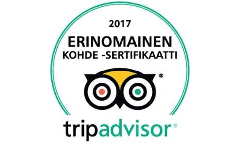 Nallikari Lomakylälle TripAdvisorin sertifikaatti