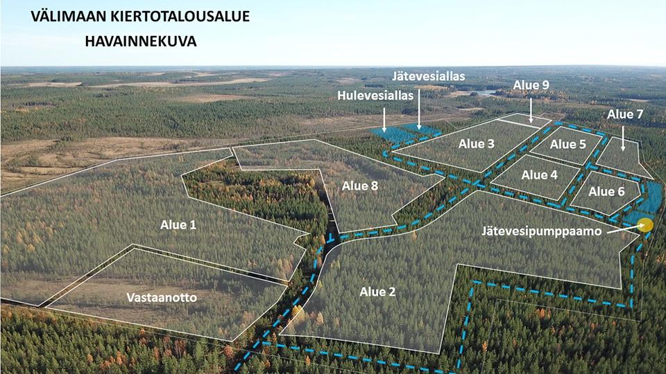 Oulun Välimaalle 150 ha kiertotalousalue