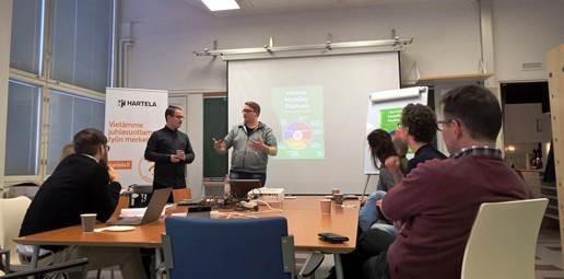 Hartela ja Demola Oulun opiskelijatiimi ratkoivat tulevaisuuden pysäköintiä