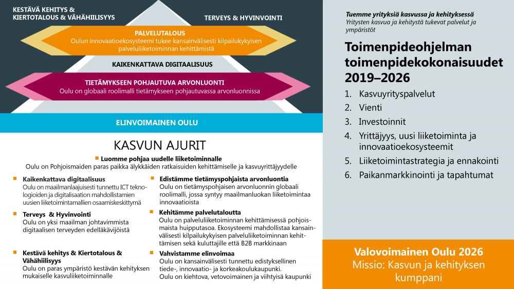 BusinessOulun toimenpideohjelman kokonaisuus graafisena esityksenä