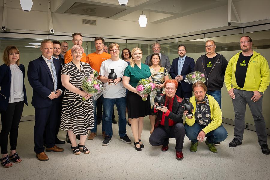 Oulun kaupungin yrittäjäpalkinnot jaettiin vuoden tauon jälkeen