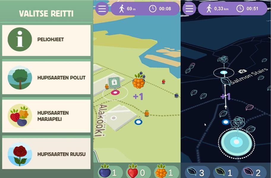Hupisaaret-mobiilipeli tutustuttaa kaupunkipuistoalueen luontoon, taiteeseen ja historiaan