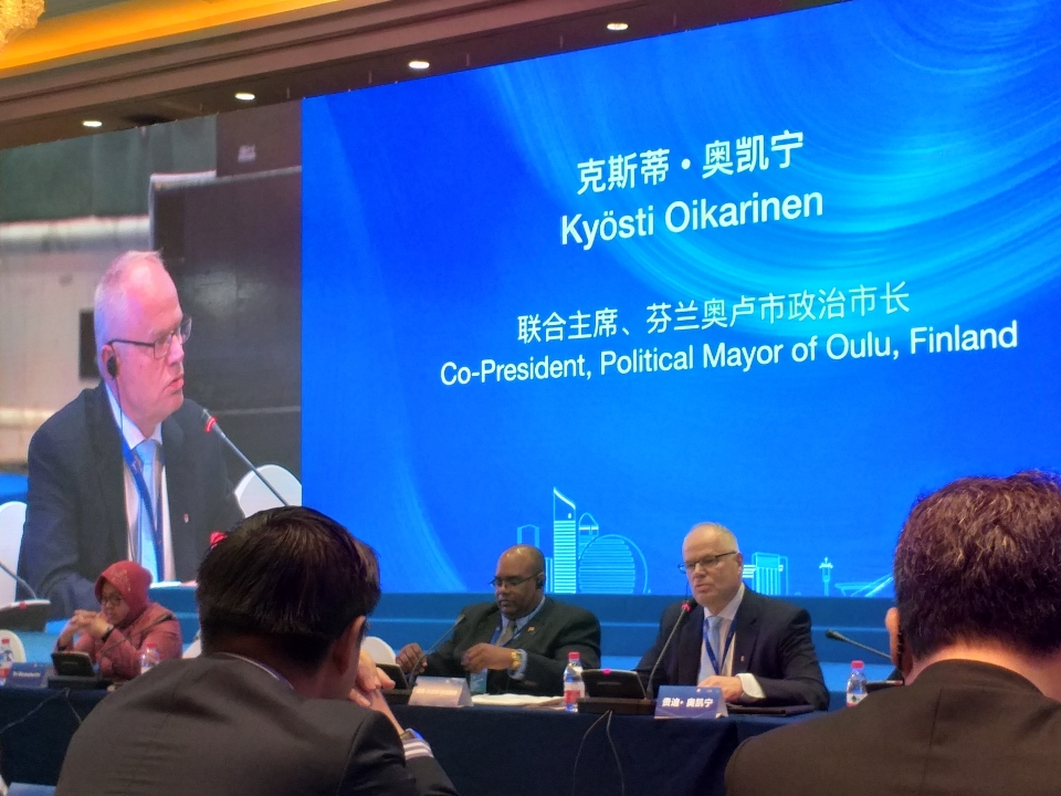 Major international role for Oulu in China