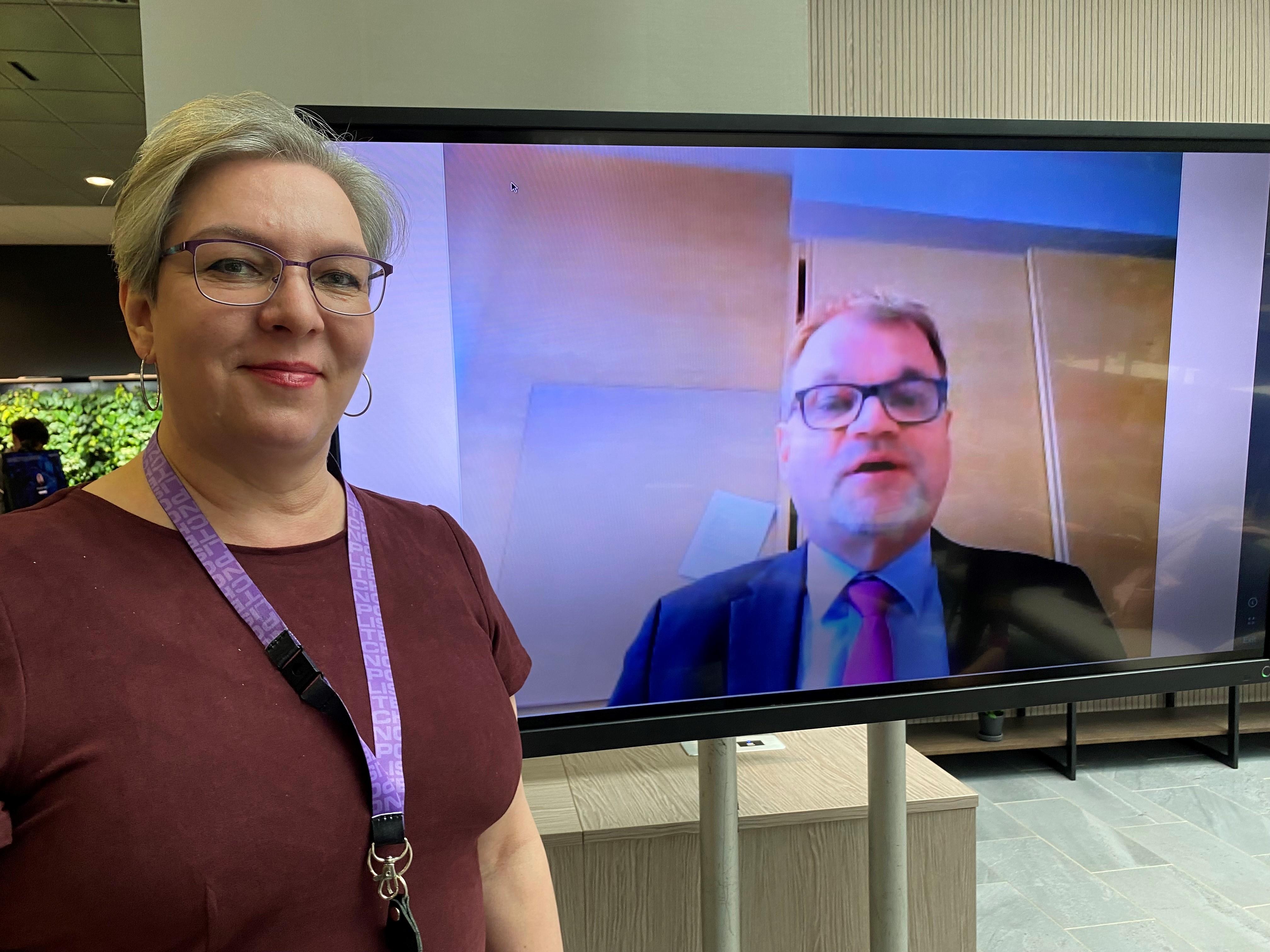 Marja Nousiainen ja Juha Sipilä